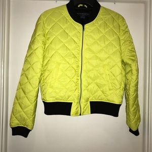 Cropped French Connection Puffy Bomber Jacket